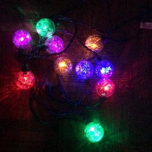 Multicolored indoor/ outdoor string lights, NWT!